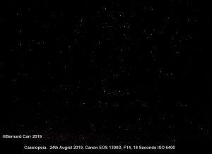 Cassiopeia in Dark Sky Site