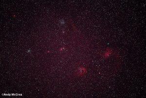 Comet Iwamotu woth M35, M36, M37